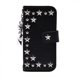 ENLA BY ENCHANTED.LA NOTEBOOKTYPE LEATHER STARS CASE HALFSTAR STAR CHARM