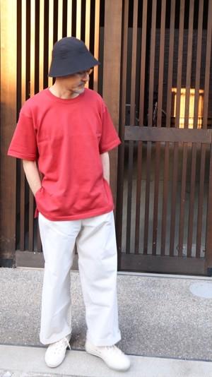 THE HINOKI オーガニックコットン ハーフスリーブTシャツ RED #19S-24