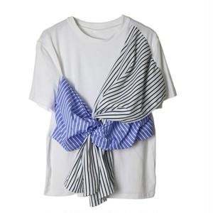 RIMI&Co. SELECT フロントリボンTシャツ 2Color