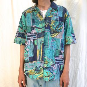 【USED】90s 半袖 コットン デザインシャツ
