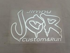 JCRオフィシャルロゴステッカー ミラー銀
