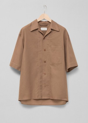 LEMAIRE SHORT SLEEVE SHIRT 437 TAUPE M 211 SH160 LF550