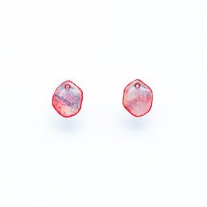 """Colorful"" japanesepaper pierced earrings  ◼︎pink purple"