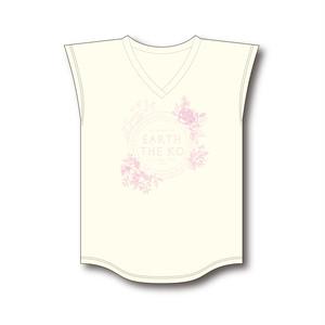 【EARTH THE KO】オーガニックコットン使用 フレンチスリーブTシャツ ≪レディースM≫