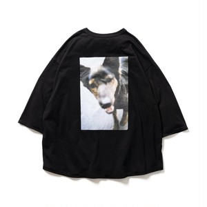 TIGHTBOOTH JIRO KONAMI  DOG 7 SLEEVE T-SHIRTS BLACK