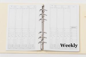 【Weekly&集計表(半年分) 単品】Club Diary / キャバ嬢 ホステス手帳 クラブダイアリー