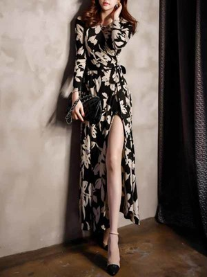 【dress】Elegant V-neck sexy exaltation party dress