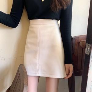 【ボトムス】絶対欲しいハイウエスト着瘦せチェック柄スリットスカート