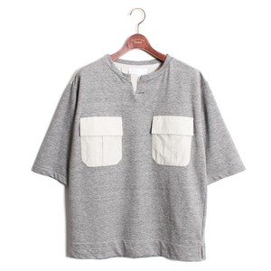 Big Silhouette Henley Neck Tee  -gray < LSD-AH1T3 >