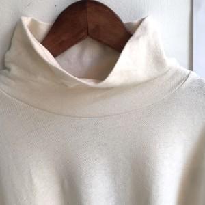 【HEAVENLY】コットンリネン タートルネック 長袖Tシャツ ナチュラル (キナリ)【ヘブンリー】
