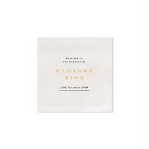 巻き三つ折り席次表[ASH WHITE](10部¥11,000〜) | 結婚式・ウェディングペーパーアイテム・海外風・カリグラフィー