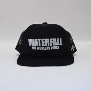 ロゴメッシュキャップ(レコードワッペン) ブラック F ユニセックス WATERFALL コラボ商品
