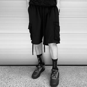【MENS - 1 size】WIDE SWEAT SHORTS / Black