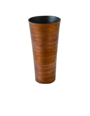 胴巻炭華 ロングカップ 内黒外銅〜土の温もりを感じる器〜