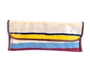 リサイクル絨毯×ヤギ革クラッチバック