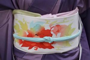 カラフル洋花の名古屋帯