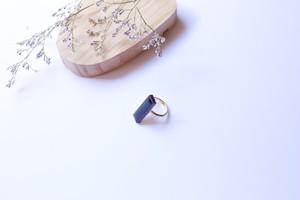 335伝統文化品美濃焼多治見四角タイル指輪・リング(フリーサイズ)