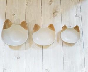 猫ボウル 3個セット 茶ミミ
