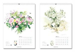 【ご予約】9月中ポストカード3枚プレゼント!5冊単位 2019年柘植彩子カレンダー