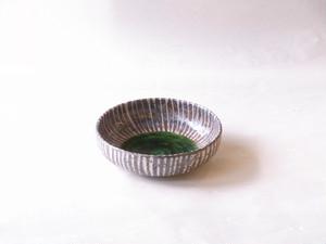 美濃焼 鼠十草 織部6寸鉢