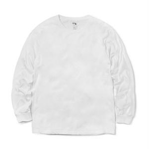クルーネック Tシャツ (長袖) ホワイト