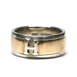Hermès Vintage Sterling Silver & 18k Gold Ring