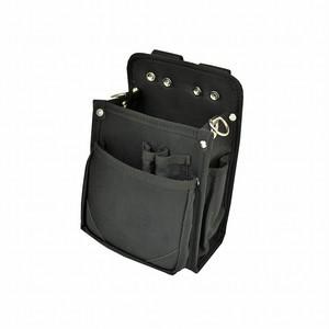 マルキン印 内側ポケット付ナイロン腰袋 BⅡ 黒