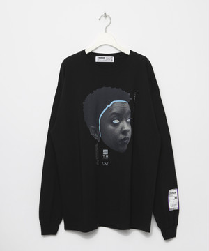 9th Anniversary Special FACE Long sleeve T-shirt [Black]