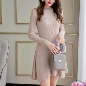 【dress】美しいラインニットスリムスウィートニットワンピース 23267895