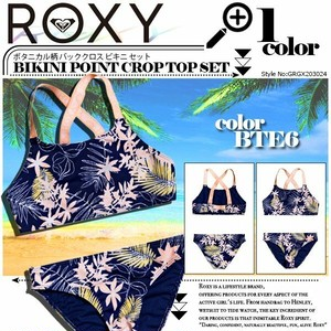 GRGX203024 ロキシー 水着 新作 ビキニ キッズ かわいい 人気ブランド ネイビー 紺 BIKINI POINT CROP TOP SET