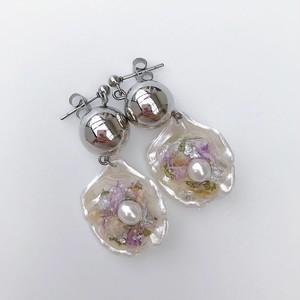 shell flower / silver