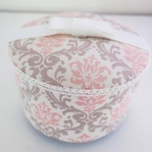 ペットの可愛い骨壷 3寸  クラシック ピンク&グレー