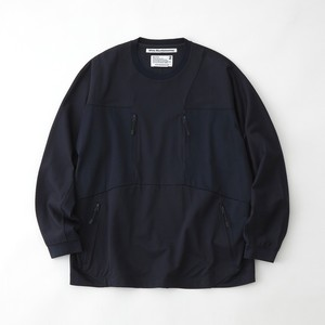 CONTRASTED SWEATSHIRT - NAVY