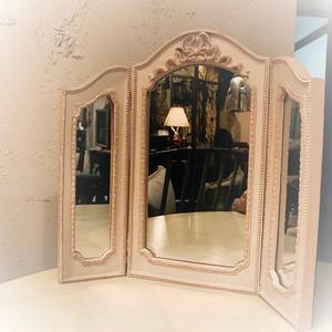 ピンクリボン プリンセスミラー 三面鏡