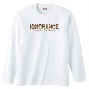 IGNORANCE LOGO(CAMOUFLAGE) LONG SLEEVE【WHITE】