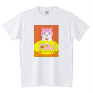 Tシャツ ニャンコ・ドーナツ(オレンジ)