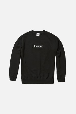 Saunner Box Logo Sweatshirt - Black/Black Logo