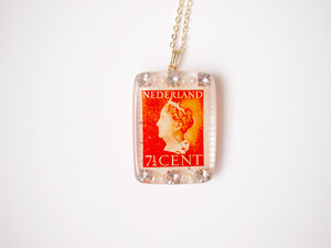 stamp necklace [orange]