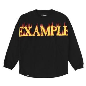 FIRE FOAM PRINT LOGO L/S TEE / BLACK