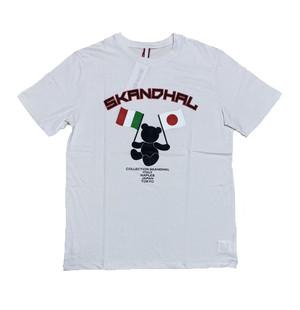 【SKANDHAL】JAPAN ITALY Tシャツ 【ホワイト】【新作】イタリアンウェア【送料無料】《M&W》
