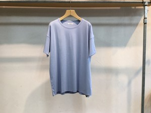 """WHOWHAT""""DOUBLE WIDE TEE SAXBLUE"""""""