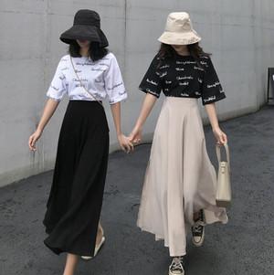 side slid A line skirt 2color