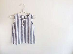 ストライプノースリーブシャツ ラスト1点100サイズ