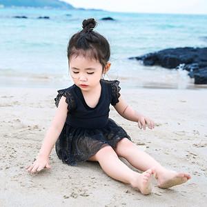 9342キッズ水着 子供 女児 女の子用水着 ワンピース水着 ベビー水着キッズみずぎ スイミング ウェア ジュニア 小学生 黒