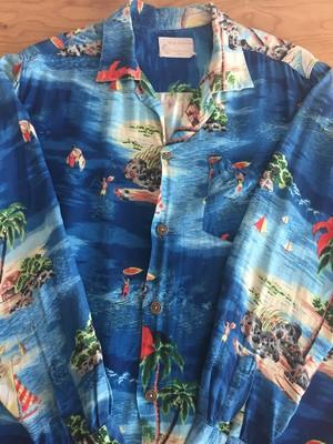60's vintage aloha shirts  L/S        ヴィンテージ アロハシャツ 古着 us古着  アメカジ