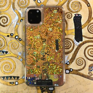 ARTiFY iPhone 11 Pro Max グリッターケース クリムト 生命の樹 ゴールド AJ00516