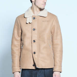 "VIRGO / ヴァルゴ |【特価SALE!!!】"" MOUTON DECK JACKET "" - CAMEL -"