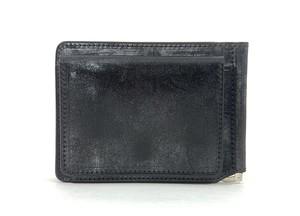 RE.ACT Bridle Leather Money Clip Wallet Black