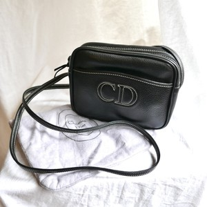 "DIOR ""CD"" Logo Black Shoulder Bag"
