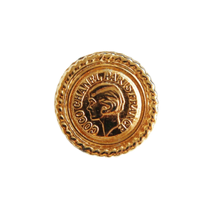 【VINTAGE CHANEL BUTTON】ココシャネル ゴールドコイン風ボタン 17㎜ C-21029